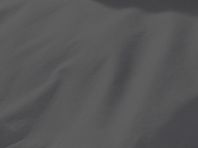 Spannlaken dunkelgrau Baumwollperkal 160 x 200 cm