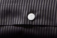 Bettwäsche Grisaglia Nero 3mm Streifen, Damast Detailbild 4