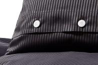 Bettwäsche Grisaglia Nero 3mm Streifen, Damast Detailbild 5