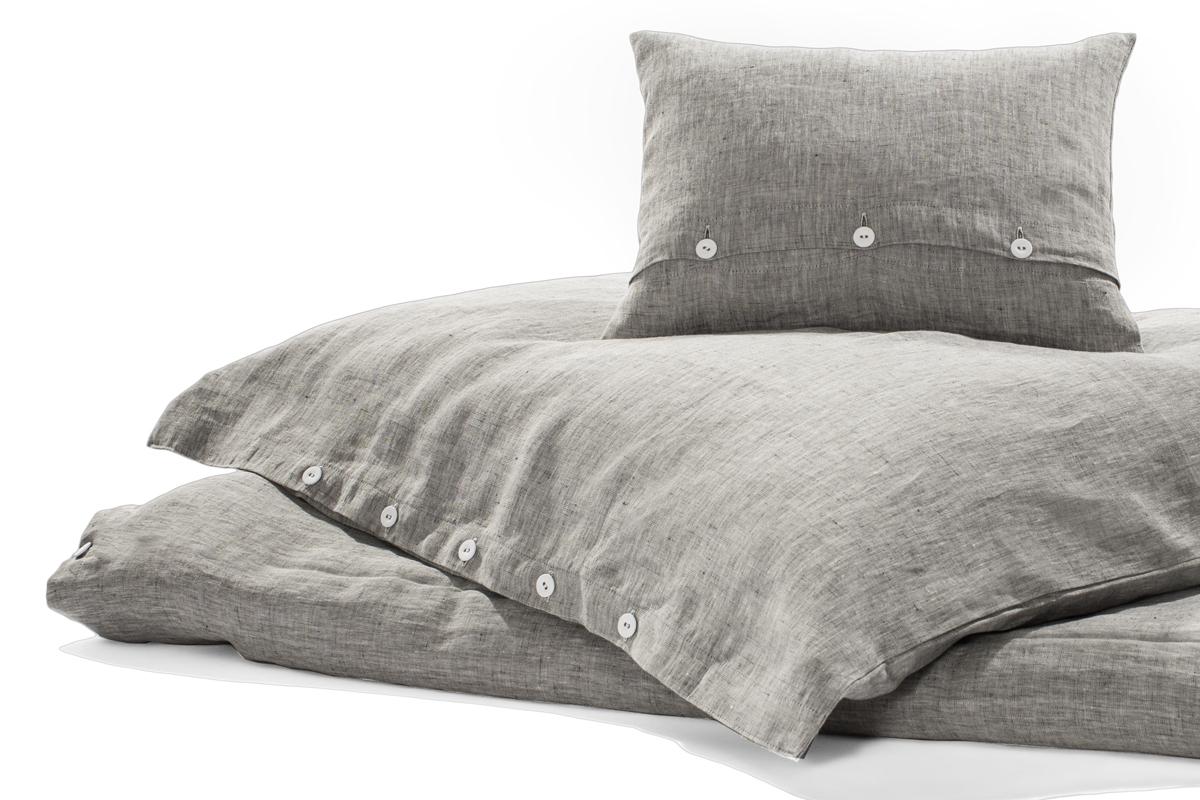 bettw sche rainy day leinen dunkelgrau meliert 200 x 200. Black Bedroom Furniture Sets. Home Design Ideas