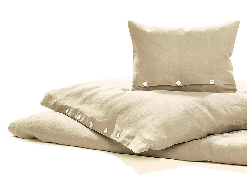 Bettwäsche Reines Leinen Natur Vorgewaschen 135 X 200 Cm 1 Kissen