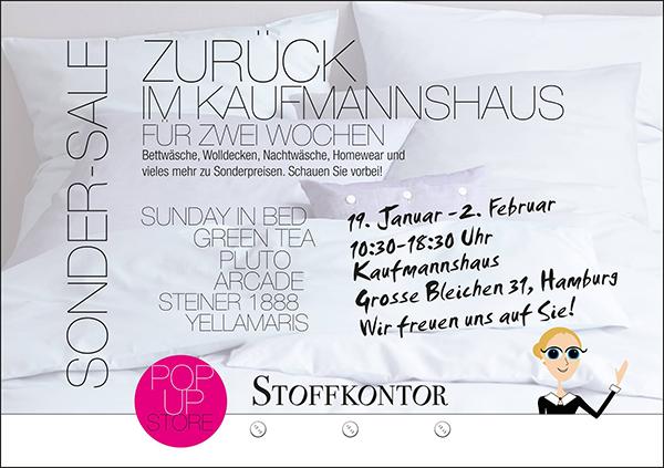 Stoffkontor - Pop Up Kaumannshaus Januar bis Februar 2019
