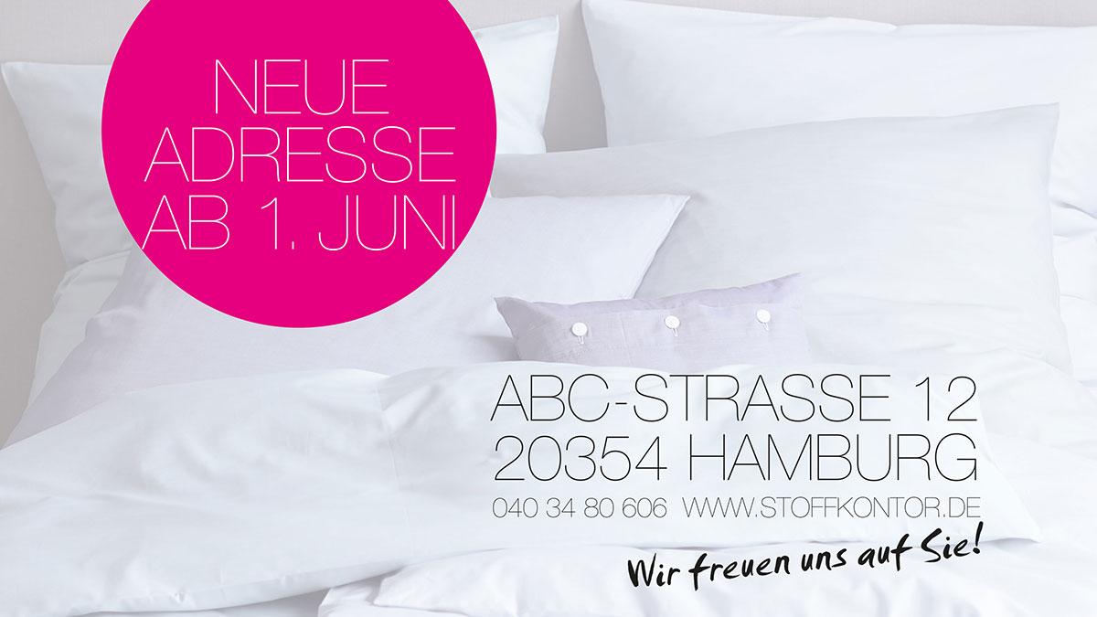Stoffkontor - Neuer Laden ab 1. Juni - ABC-Straße, Hamburg